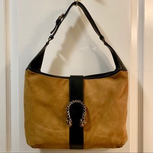 Authentic Gucci Vintage Dionysus Leather Trim Hobo